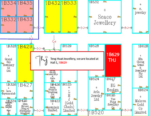 Jewellery & Gem Fair plan